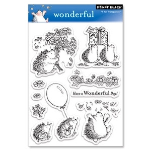 Penny Black Clear Stamps WONDERFUL Hedgy Birthday 30-029 Hedgehog