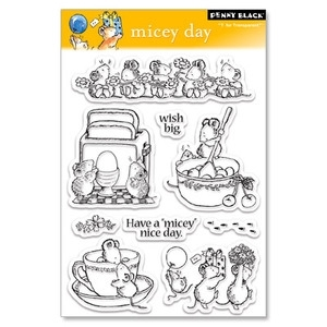 Penny Black Micey Day Clear Stamp Set