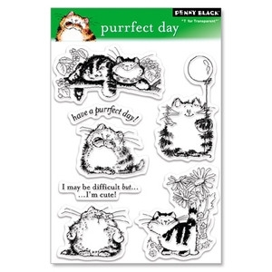Penny Black Clear Stamps PURRFECT DAY 30-027 zoom image