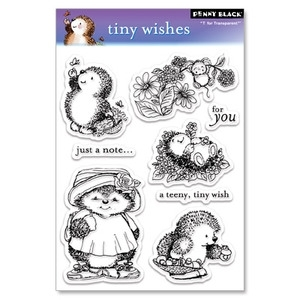 Penny Black Clear Stamps TINY WISHES Hedgy Hedgehog 30-026 Preview Image