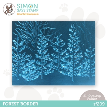 Simon Says Stamp Embossing Folder FOREST BORDER sf209 Holly Jolly
