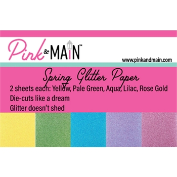 Pink and Main Glitter Paper Spring