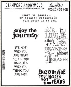 Tim Holtz Cling Rubber Stamps JUST THOUGHTS Stampers Anonymous cms078