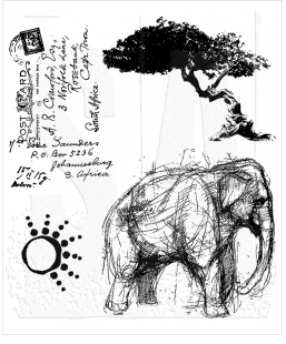 Tim Holtz Cling Rubber Stamps LIFE ADVENTURE Stampers Anonymous CMS077 Preview Image