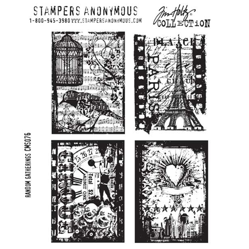 Tim Holtz Cling Rubber Stamps RANDOM GATHERINGS Stampers Anonymous CMS076 Preview Image