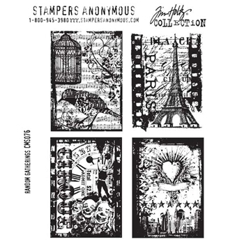 Tim Holtz Cling Rubber Stamps RANDOM GATHERINGS Stampers Anonymous CMS076