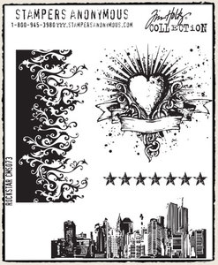 Tim Holtz Cling Rubber Stamps ROCK STAR Rockstar Stampers Anonymous CMS073 Preview Image
