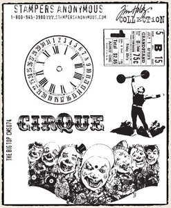 Tim Holtz Cling Rubber Stamps THE BIG TOP Circus Stampers Anonymous zoom image
