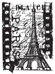 Tim Holtz Cling Rubber ATC Stamp PARIS FILM Stampers Anonymous COM035
