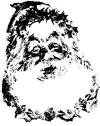 Tim Holtz Rubber Stamp SANTA'S SMILE Claus Christmas Stampers Anonymous M4-1450