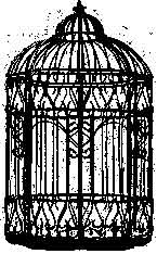 Tim Holtz Rubber Stamp THE CAGE Bird Birdcage Stampers Anonymous M3-1457 Preview Image