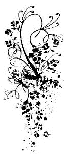 Tim Holtz Rubber Stamp FLORAL SWIRL Flower Stampers Anonymous P2-1459 Preview Image