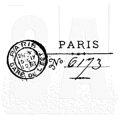 Tim Holtz Rubber Stamp PARIS MARK Post Stampers Anonymous E2-1463 Preview Image