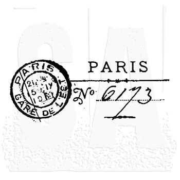 Tim Holtz Rubber Stamp PARIS MARK Post Stampers Anonymous E2-1463