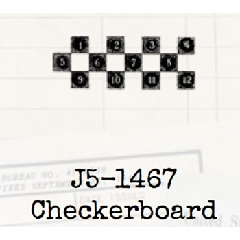 Tim Holtz Rubber Stamp CHECKERBOARD Game Stampers Anonymous J5-1467