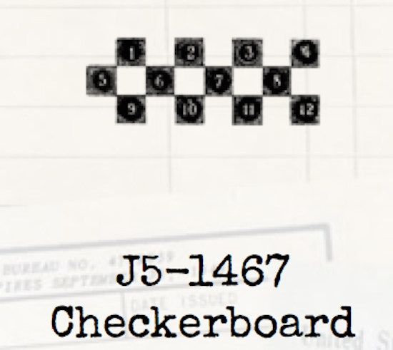 Tim Holtz Rubber Stamp CHECKERBOARD Game Stampers Anonymous J5-1467 zoom image