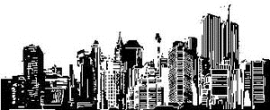 Tim Holtz Rubber Stamp CITYSCAPE City Stampers Anonymous P2-1472 zoom image