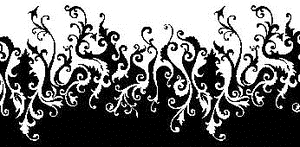 Tim Holtz Rubber Stamp FUNKY FLAMES Border Stampers Anonymous P2-1473 Preview Image