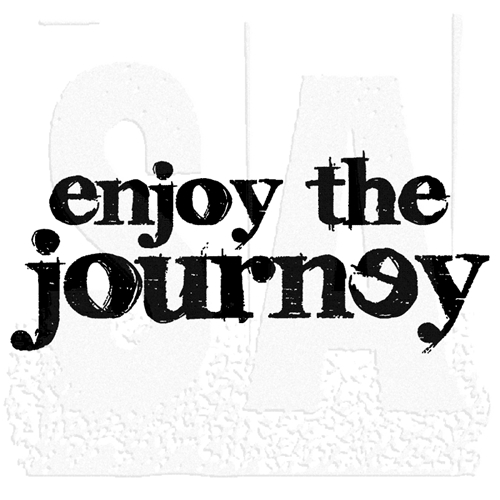 Tim Holtz Rubber Stamp ENJOY THE JOURNEY j5-1497 Stampers Anonymous Preview Image