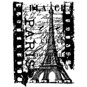 Tim Holtz Rubber Stamp PARIS FILM Stampers Anonymous P4-1489 Preview Image