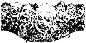 Tim Holtz Rubber Stamp CLOWNS Stampers Anonymous U3-1479 zoom image