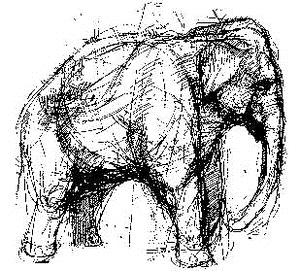 Tim Holtz Rubber Stamp ELEPHANT Stampers Anonymous V1-1494 zoom image