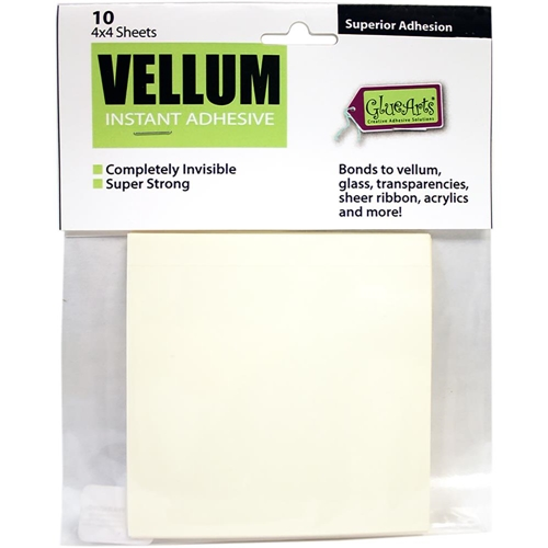 Glue Arts Crop & Glue VELLUM Instant ADHESIVE 10 Sheets Preview Image