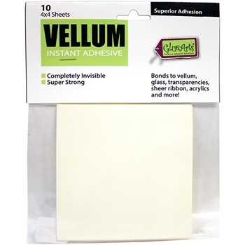 Glue Arts Crop and Glue VELLUM Instant ADHESIVE 10 Sheets