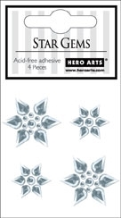 Hero Arts STAR GEMS 4pc Snowflakes ch193 Christmas
