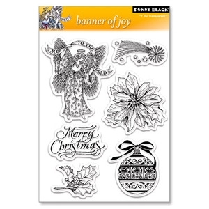 Penny Black Clear Stamps BANNER OF JOY 30-036