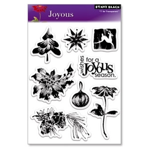 Penny Black Clear Stamps JOYOUS Christmas 30-037