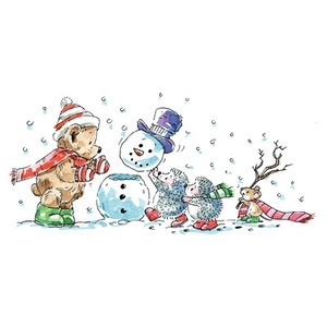 Penny Black Rubber Stamp SNOW SQUAD 4013k