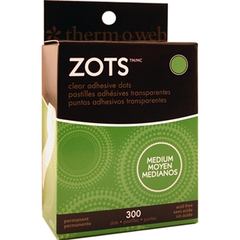Zots MEDIUM Clear Adhesive Dots Permanent 3784