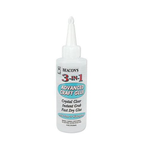 Beacon 3 IN 1 ADVANCED CRAFT GLUE Crystal Clear Instant Grab Fast Dry Glue zoom image