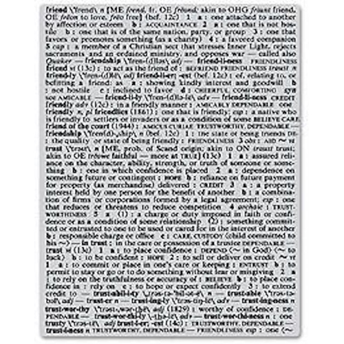 Hero Arts CLING Stamp FRIEND DEFINITION Rubber CG125 Unmounted* Preview Image