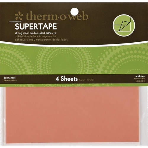 Therm O Web Double Sided SUPER TAPE SHEETS 5.5 x 4.5 Adhesive Glue Preview Image