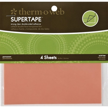 Therm O Web Double Sided SUPER TAPE SHEETS 5.5 x 4.5 Adhesive Glue