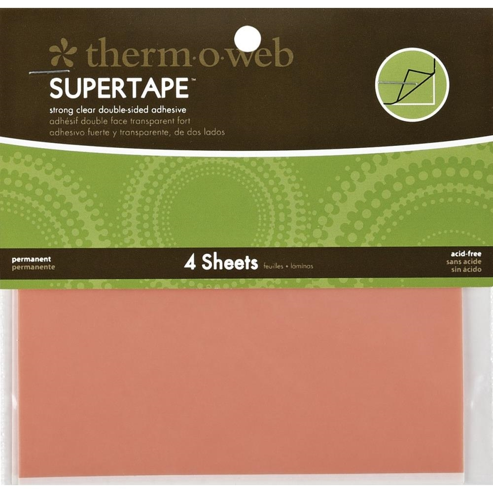 Therm O Web Double Sided SUPER TAPE SHEETS 5.5 x 4.5 Adhesive Glue zoom image