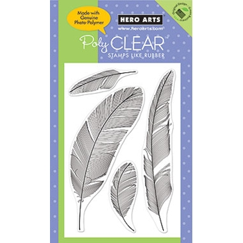 Hero Arts Clear Stamps FEATHERS CL407