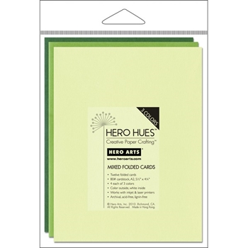 Hero Arts 12 MIX NOTECARDS FOLIAGE Cards PS570