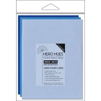 Hero Arts 12 MIX NOTECARDS SEA Cards PS571