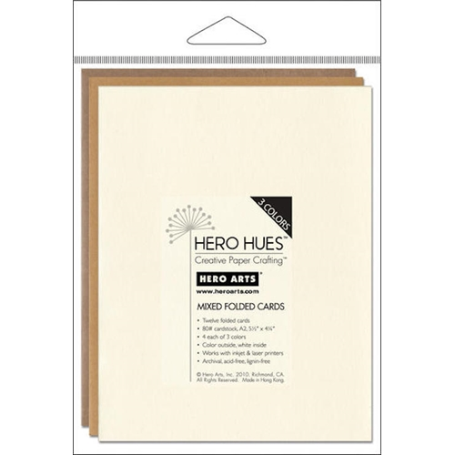 Hero Arts 12 MIX NOTECARDS EARTH Cards PS572 Preview Image