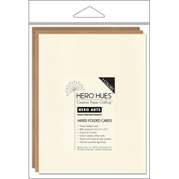 Hero Arts 12 MIX NOTECARDS EARTH Cards PS572