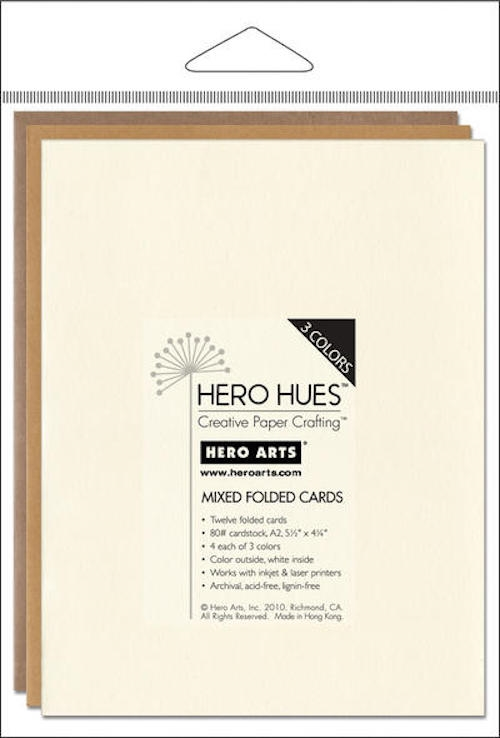 Hero Arts 12 MIX NOTECARDS EARTH Cards PS572 zoom image