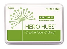 Hero Arts HUE Chalk Ink GRASS Stamp Pad Green AF182