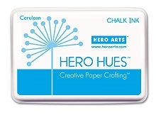 Hero Arts HUE Chalk Ink CERULEAN Stamp Pad Blue AF183*