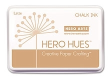 Hero Arts HUE Chalk Ink LATTE Stamp Pad Brown AF184
