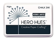 Hero Arts HUE Chalk Ink NIGHT Stamp Pad Black AF186