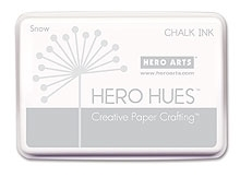 Hero Arts HUE Chalk Ink SNOW White Stamp Pad AF185