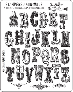 Tim Holtz Cling Rubber Stamps MINI CIRQUE ALPHABET Stampers Anonymous Preview Image